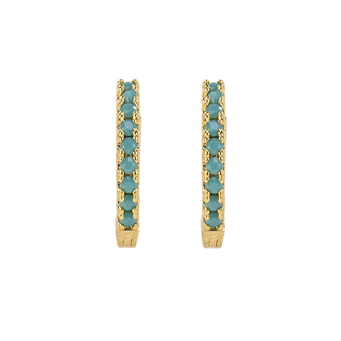 SMALL HOOPS turquoise