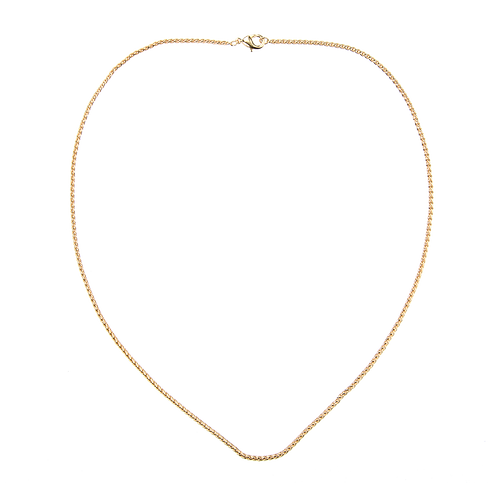Twisted gold necklace 45cm