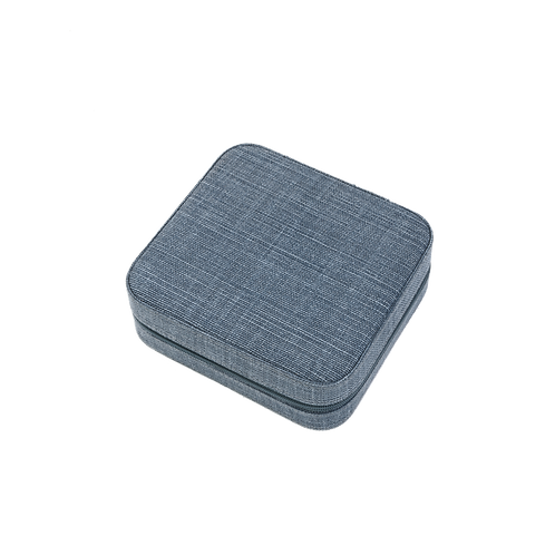 Belgian linen octa jewelry box, Midnight blue