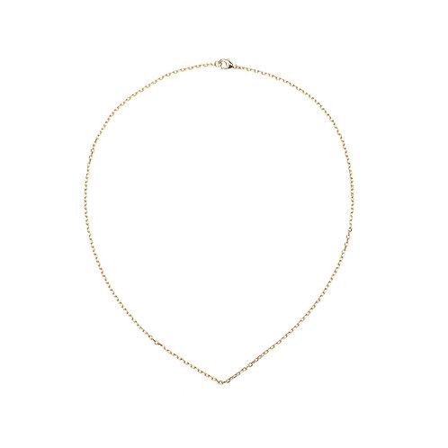 Gold necklace 40cm