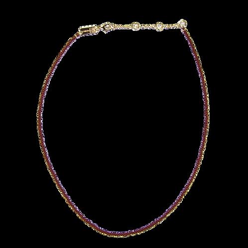 Pearl necklace Bordeaux