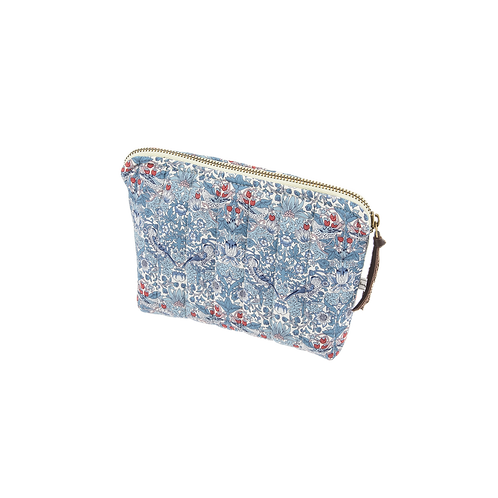 XS pouch, Strawberry thief blue