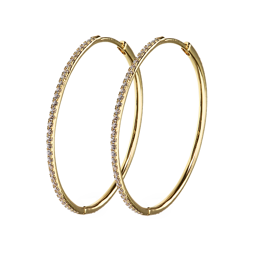 X-LARGE HOOPS white