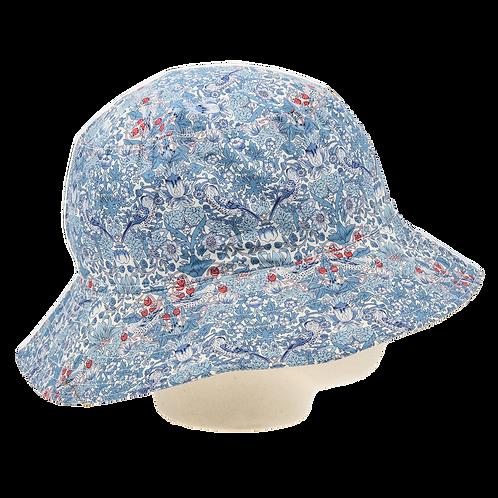 Bucket hat, Strawberry thief blue