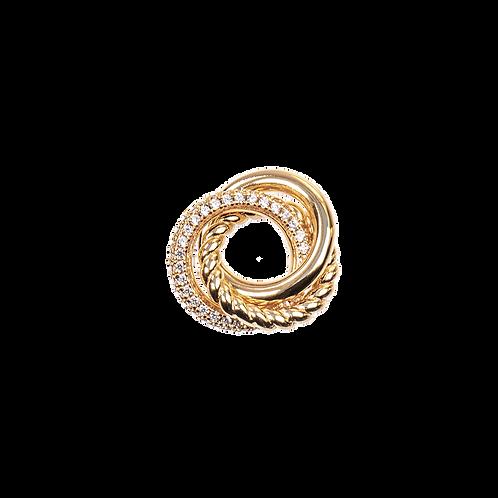 Triple ring charm