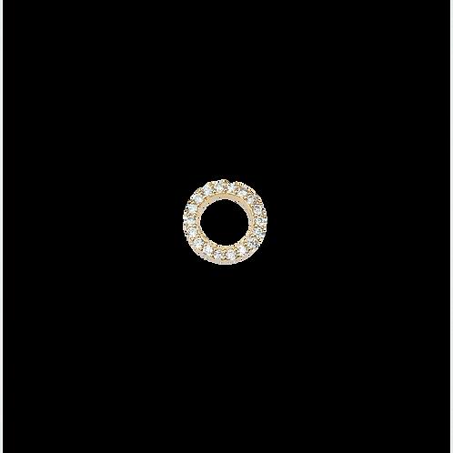 Medium ring charm white