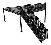 escada e mezanino de ferro