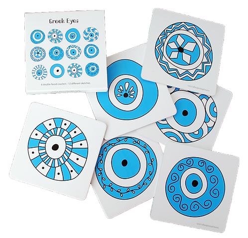 Greek Eyes - set of 6