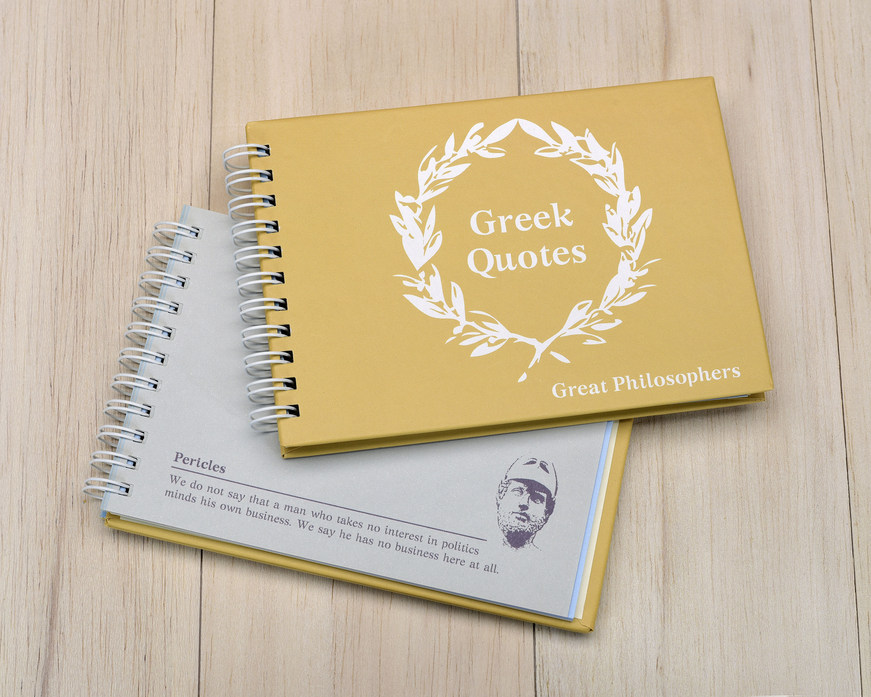 notebook with quotes