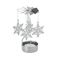 metal ornament with candle