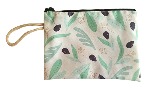 Olives & leaves pouch