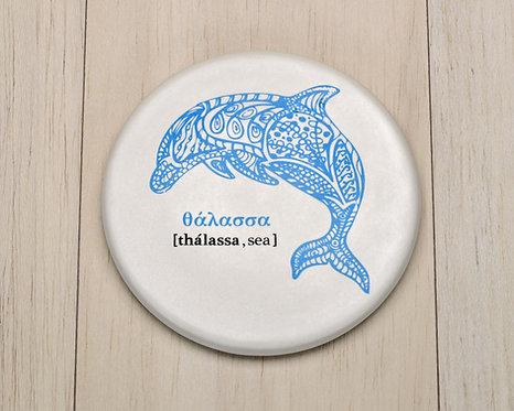 Dolphin Ceramic Coaster