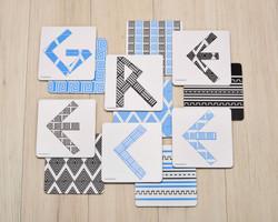set of coasters/fully customizable