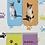 Thumbnail: Greek cats - Set of 4 mini magnetic bookmarks
