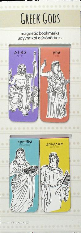 Greek Gods - Set of 4 mini magnetic bookmarks