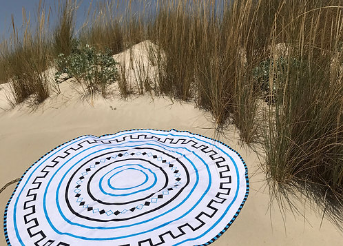 Round Beach Towel - Motifs