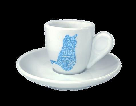Cat espresso cup