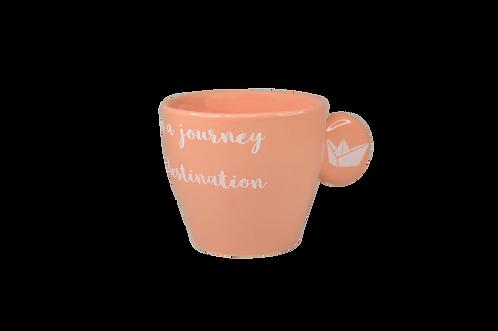 Life /Peach - Handmade ceramic espresso cup
