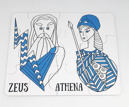 Greek Gods - Puzzle 3+