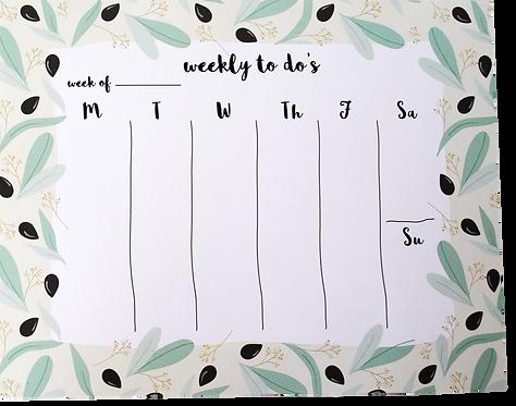 Custom Weekly pad