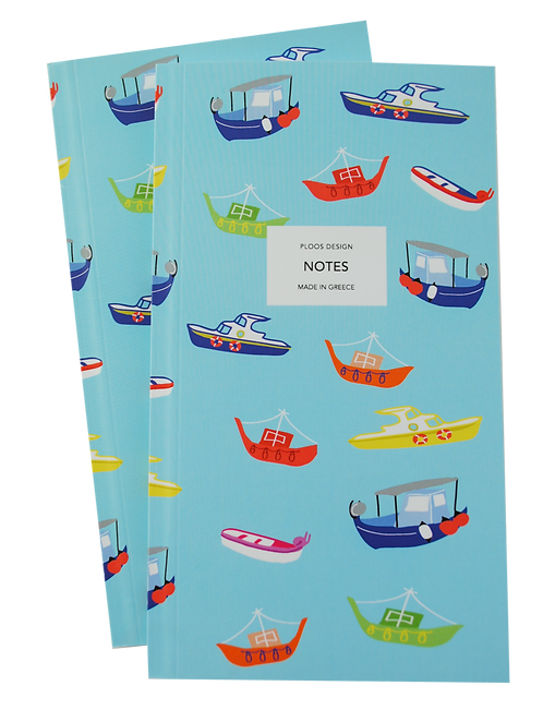 Boats - notepad (lined pages)