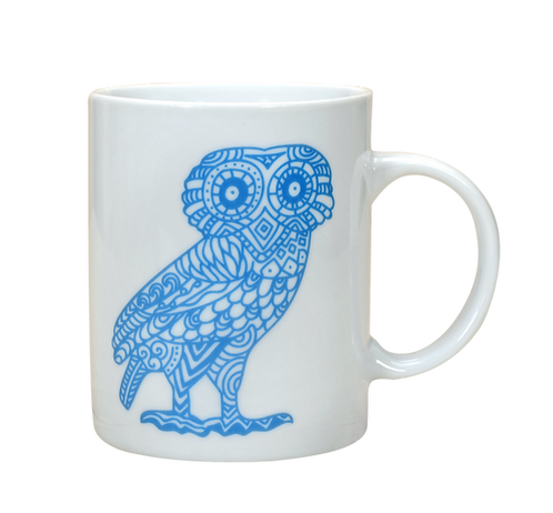 Owl Mug with Socrates Quote