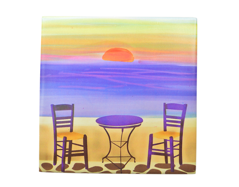Sunset Ceramic Coaster