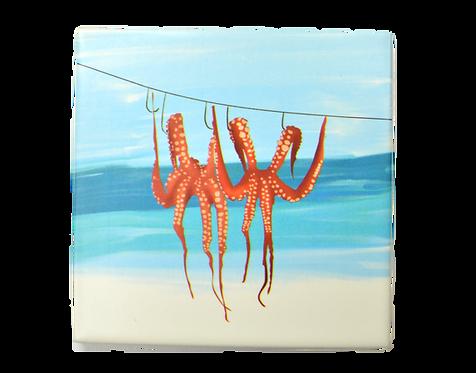 Octopus Ceramic Coaster