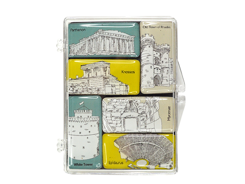 Greek Heritage  - set  6 epoxy magnets