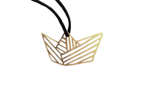 Paper boat- necklace