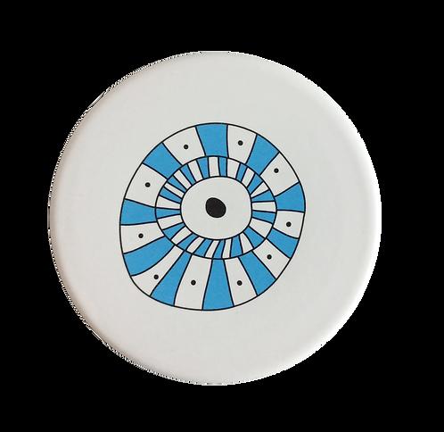 Evil Eye Ceramic Coaster