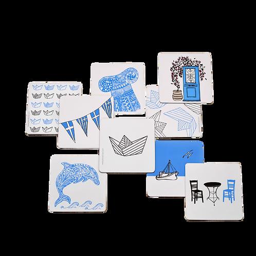 Greek Details - Set of 6 Coasters
