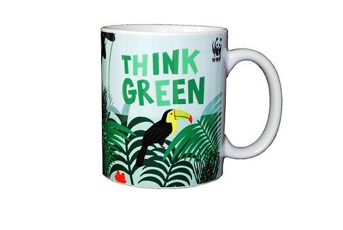 Think Green - Porcelain Mug - Ploos for WWF