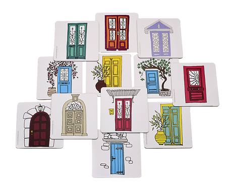 Doors of Greece - Set of 6