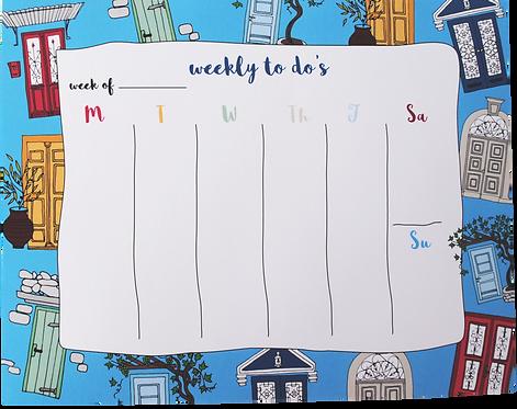 Doors - weekly pad