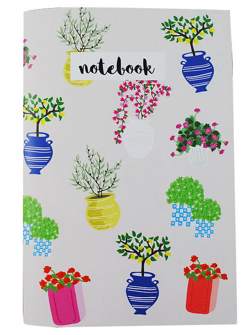 Flowers - notebook (white pages)