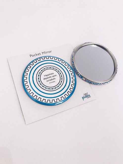 Greek Motifs Pocket Mirror