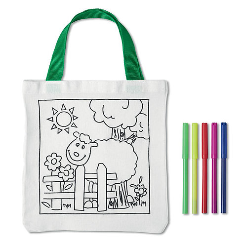 Custom Kids Bag with markers