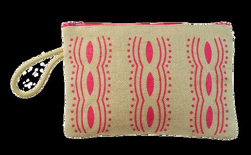 Fuchsia motif  - Jute pouch