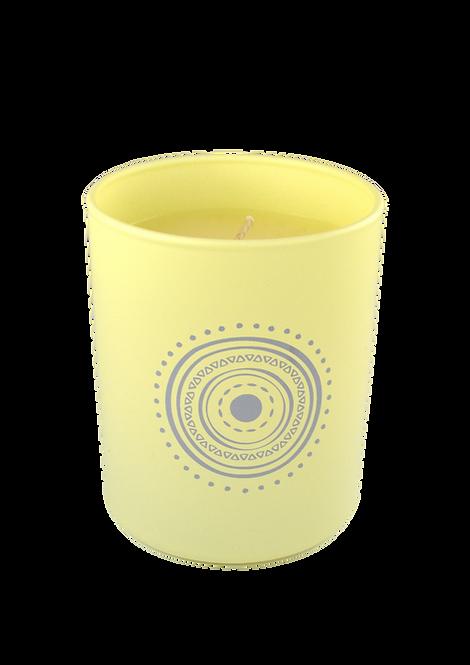 Greek motif eye Candle - scented vanilla