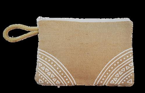 White motif - Jute pouch