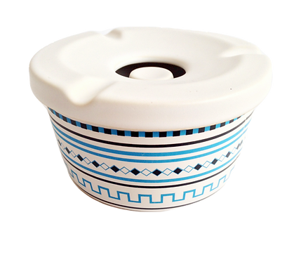 Handmade Ceramic Ashtray with lid- Athenian Motifs