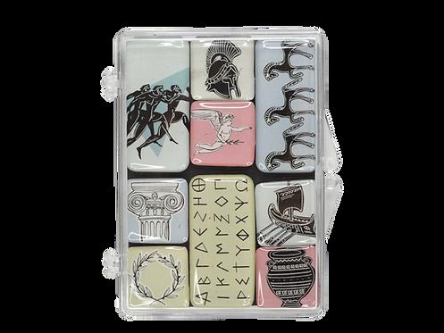 Ancient Greece- set epoxy 8 magnets