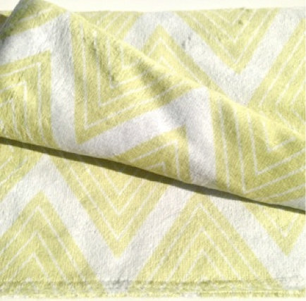 Beach Towel - Lime Meander