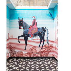 Horseman  2017 420 x 400 cm mural  Centre for Contemporary Culture, Maastricht