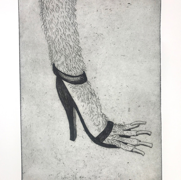 Hairy heel  2020 40 x 30 cm