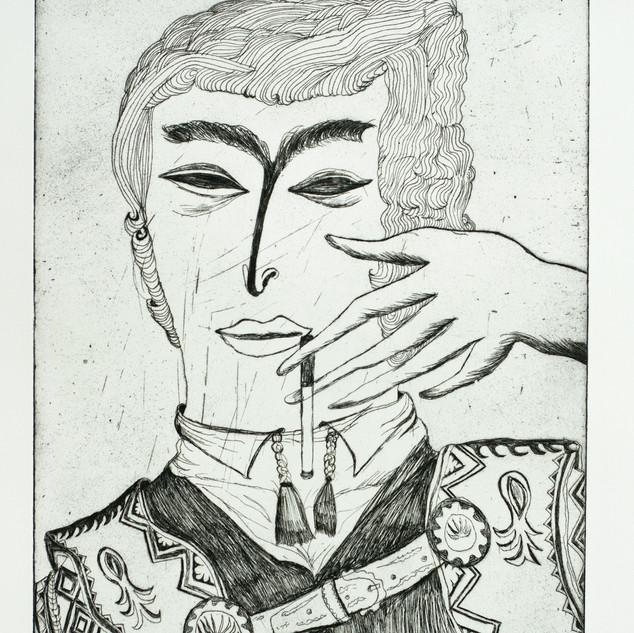 Smoker  2018 66 x 48 cm