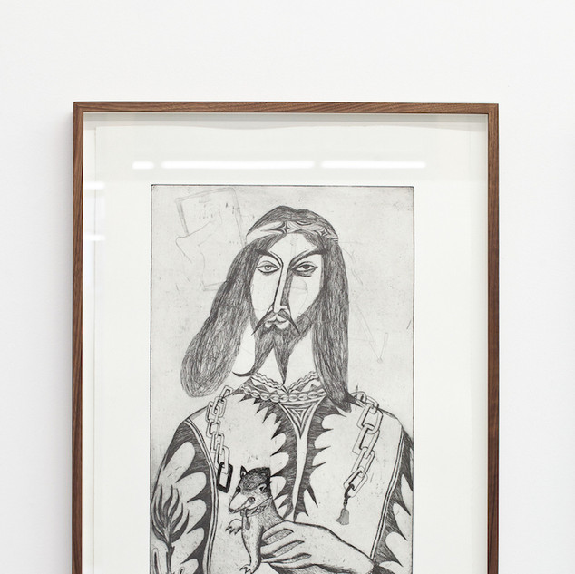 Antonius with hermelin  2018 66 x 48 cm