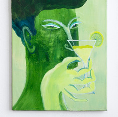 Lime cocktail  2018 50 x 40 cm oil on canvas