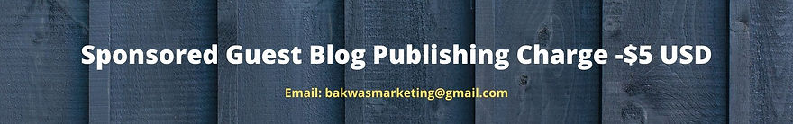 Sponsored Guest Blog Publishing Charge -